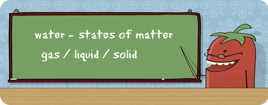 Image of water - states of matter gas / liquid / solid